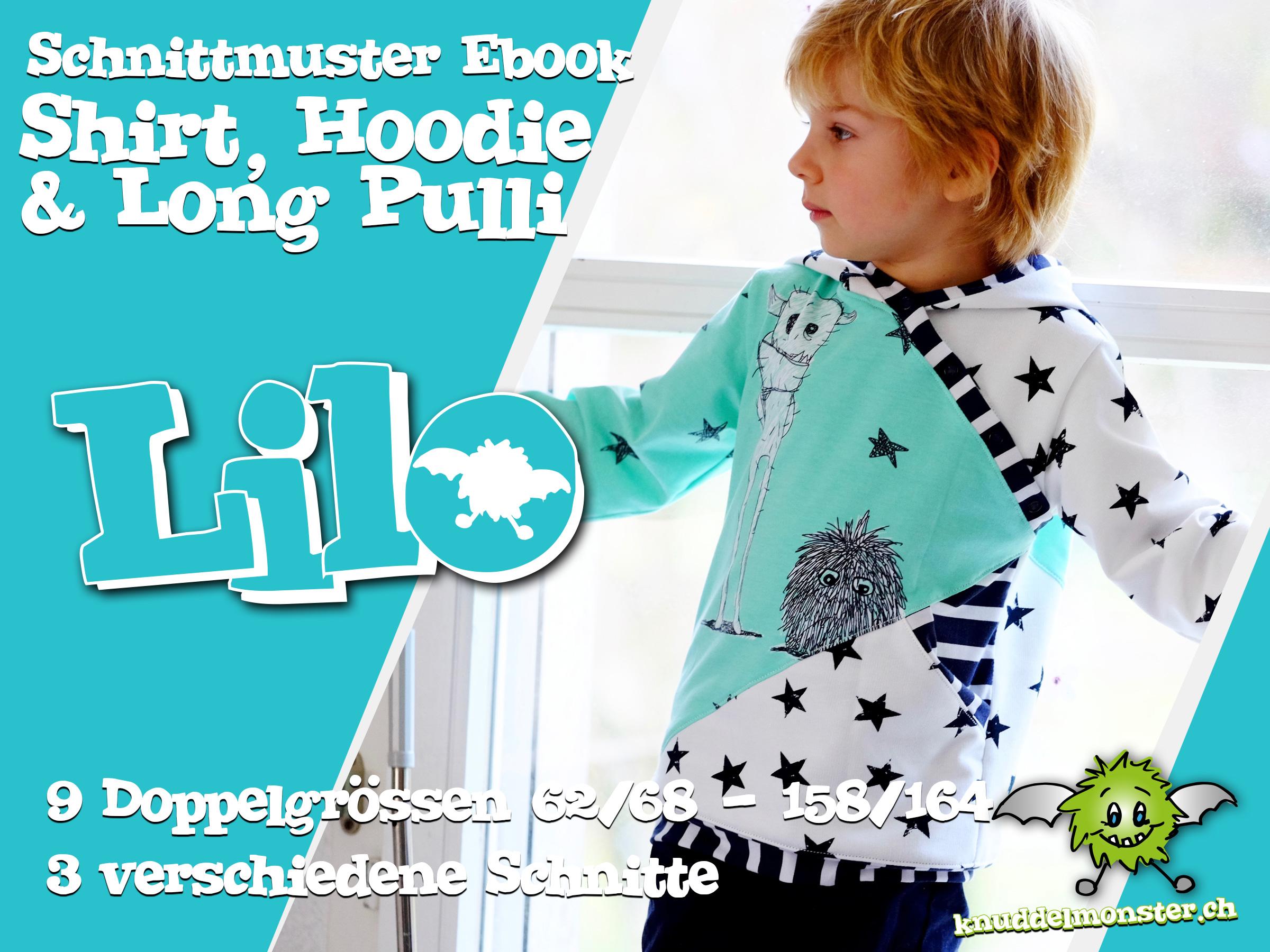 Schnittmuster – T-Shirt Lilo – 9 Doppelgrössen: 62/68 – 158/164 ...