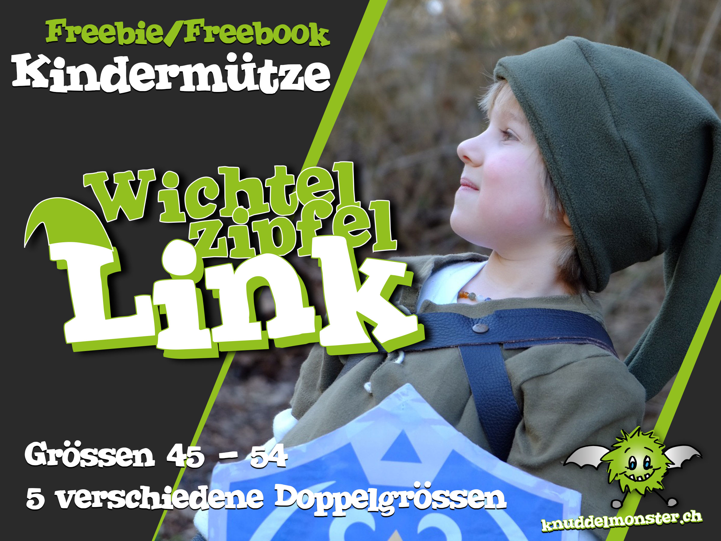 Schnittmuster – Wichtelzipfel Link – Grössen: 45-54 (FREEBOOK ...