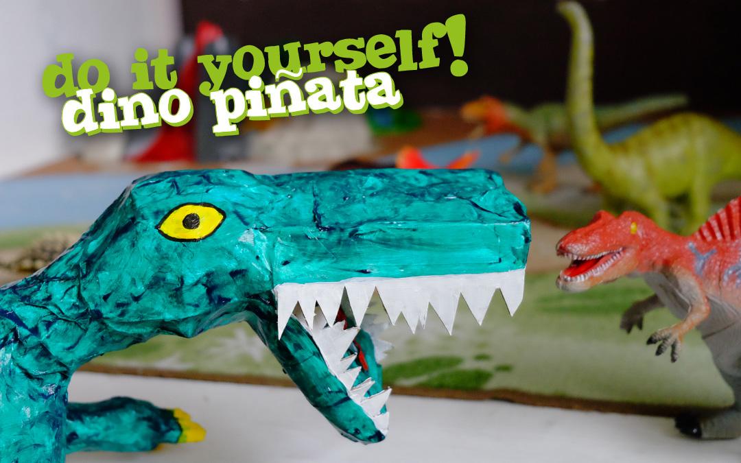 Dino Piñata selber herstellen