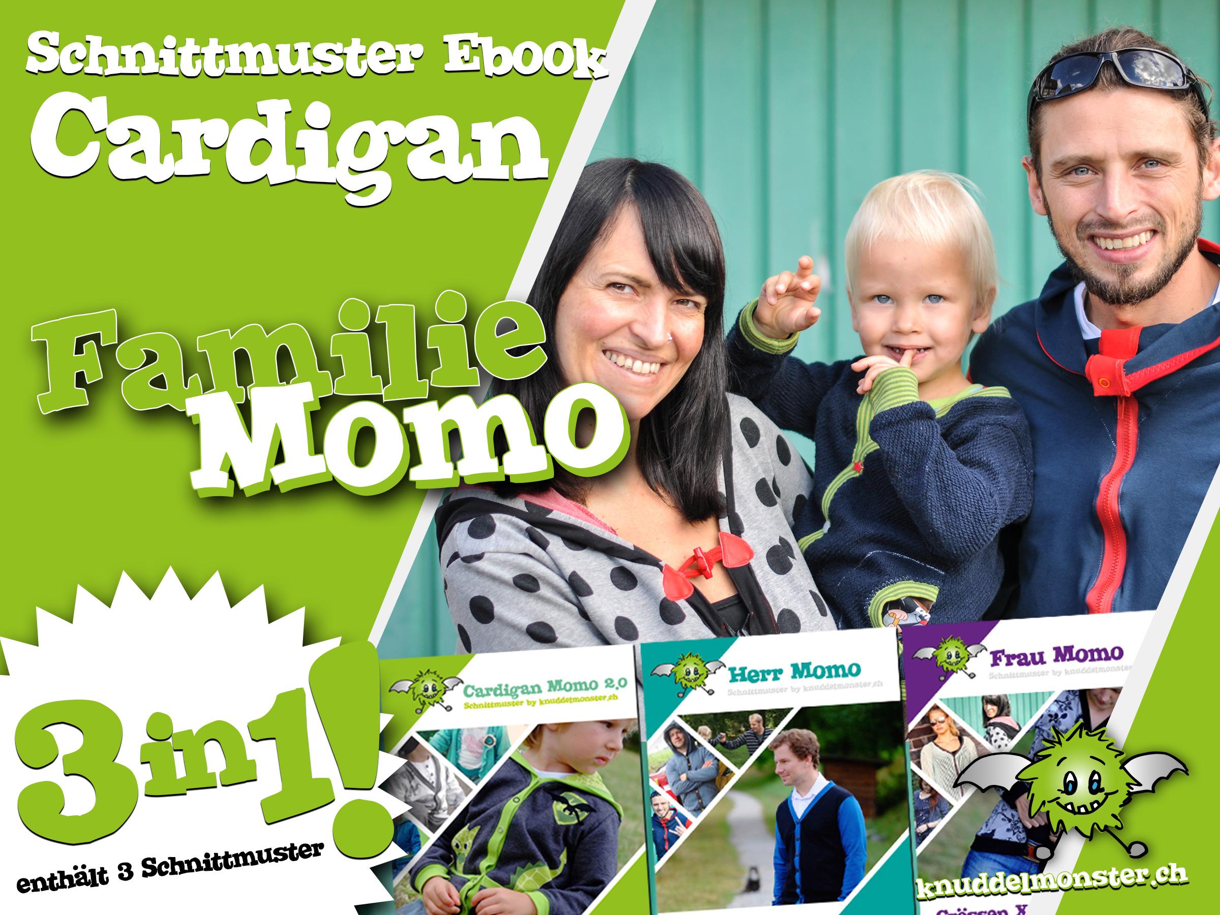 Familie Momo – 3 Schnittmuster in einem Paket | Knuddelmonster