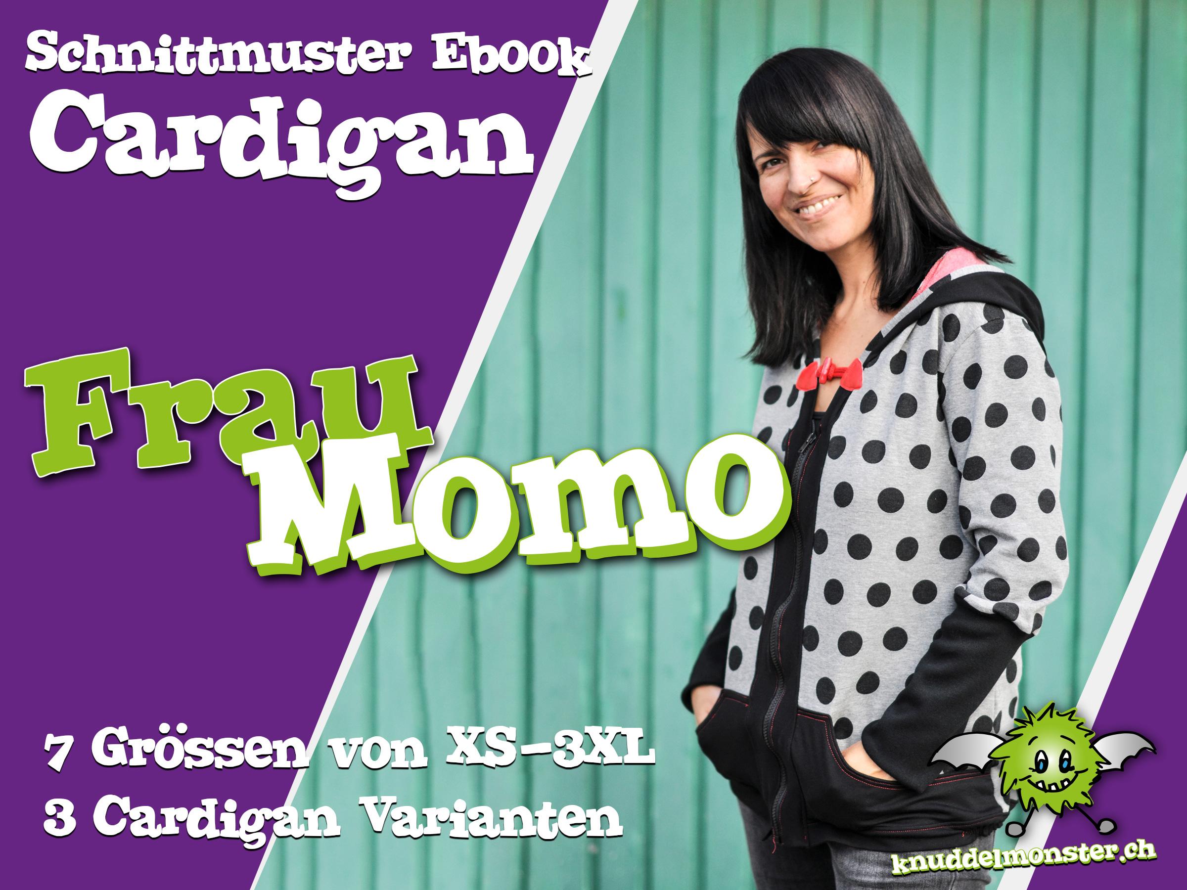 Schnittmuster – Cardigan Frau Momo – Grössen: XS – 3XL | Knuddelmonster
