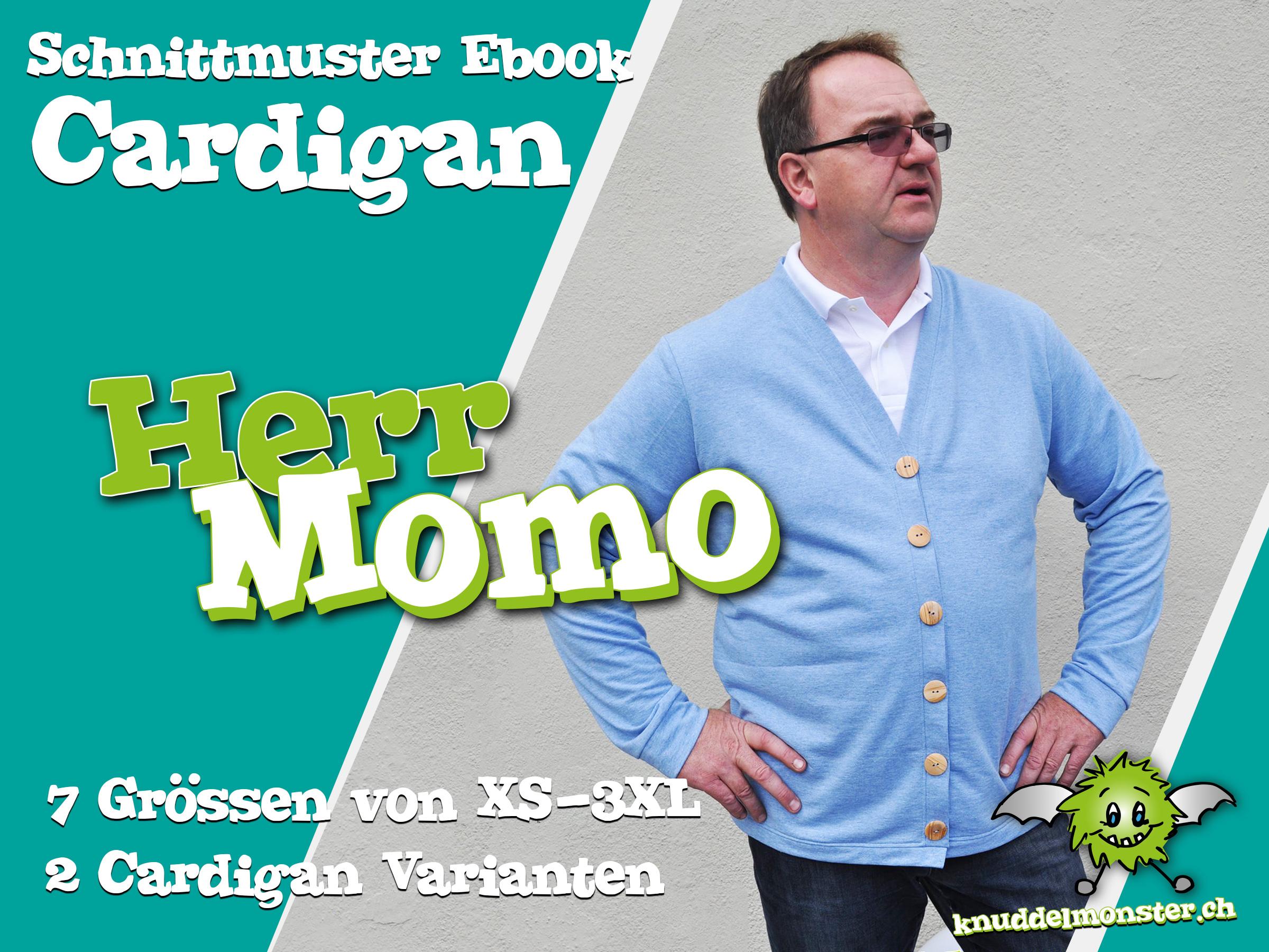 Schnittmuster – Cardigan Herr Momo – Grössen: XS – 3XL | Knuddelmonster